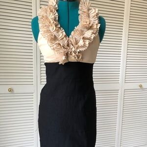 Dress with ruched bodice